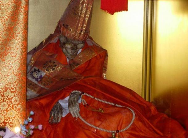 The body of Shinnyokai Shonin, found in Oaminaka, Japan. He had practiced self-mummification.