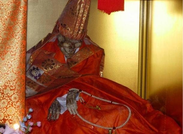 The body of Shinnyokai Shonin, found in Oaminaka, Japan. He had practiced Sokushinbutsu (self-mummification).