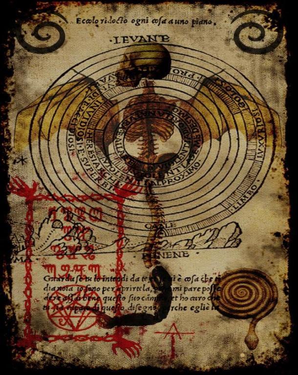 Terrifying image taken from the book Pseudomonarchia Daemonum.