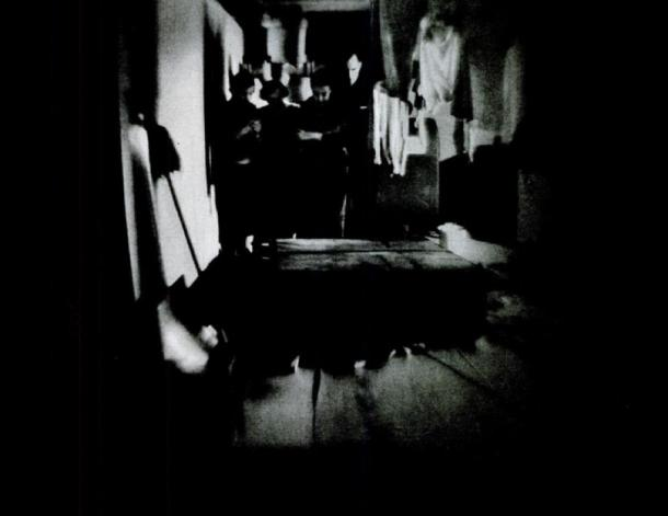 It was alleged that a bookcase had fallen over at James Hermann's house. The phenomena became known as the case of the Seaford Poltergeist and was investigated by psychical researchers. Skeptics suspect that the phenomena was produced fraudulently by Hermann's son. (Public Domain)