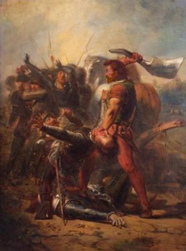 """""""De dapperheid van Grote Pier"""" (The bravery of Grote Pier), 1516, Oil on canvas by Johannes Hinderikus Egenberger."""