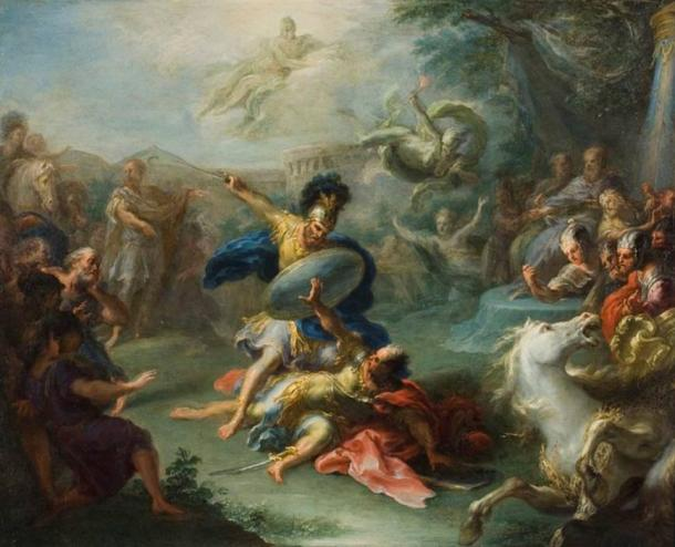 The Fight between Aeneas and King Turnus