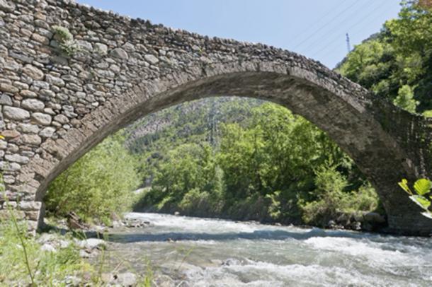 The famous medieval bridge near La Margineda. (Anibal Trejo/Adobe Stock)