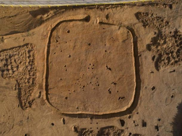 The Bronze age weapons were discovered within an ancient square enclosure © Archaeological Solutions Ltd