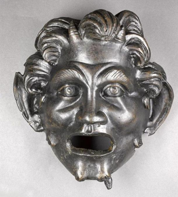 The bronze mask of Pan discovered near Hippos.