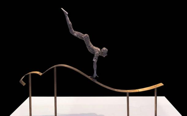 The bull leaping athlete. Ivory. Minoan culture.