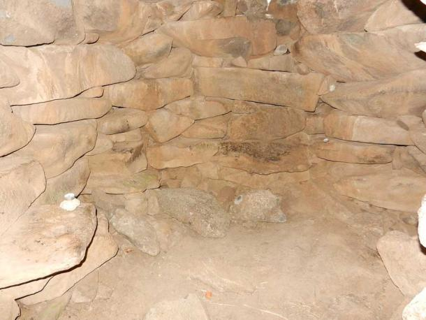 View inside the burial chamber.