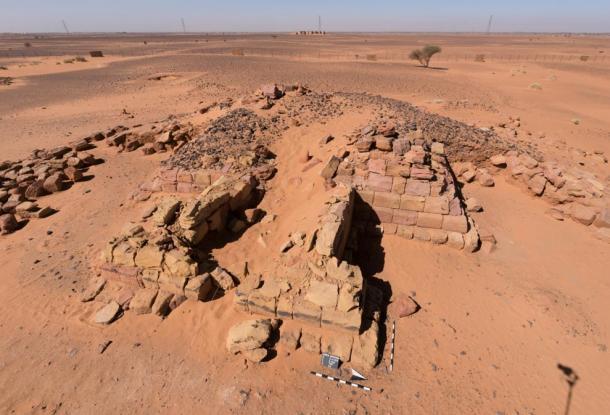 Subterranean burial chambers of Queen Khennuwa at Meroe.