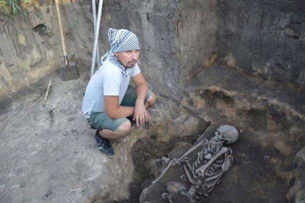 A burial found in the Arkaim Valley in August 2017. (Аркаим)