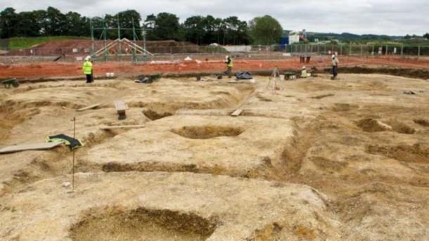 Readers can get a sense of how big the burial ground is from this photo. It is an Arras culture cemetery of square barrows. The horse and chariot burial was on the periphery of the site.