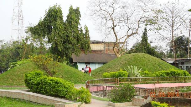 The burial mound is that of the last king of Ahom, Purandar Singha- Rajamaidam, Jorhat