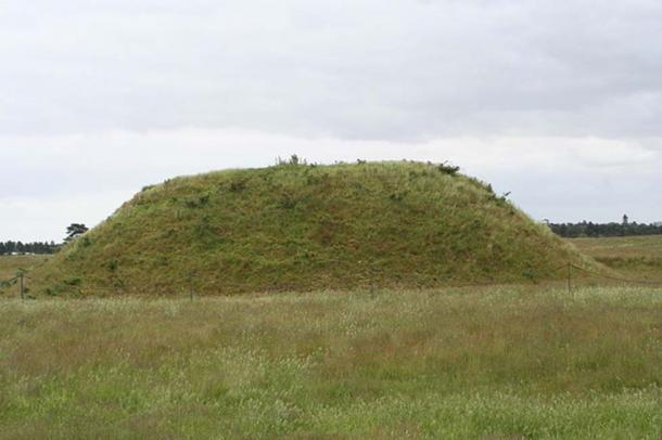 A burial mound at Sutton Hoo