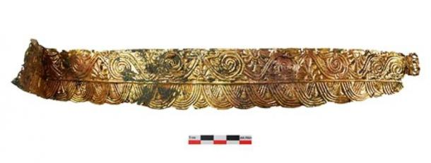 The burial of the Amazon with a headdress made of precious metal dating back to the second half of the 4th century BC was found by the staff of the Don Expedition of IA RAS during the examination of the Devitsa V Cemetery of Voronezh Oblast. (Image: archaeolog.ru)