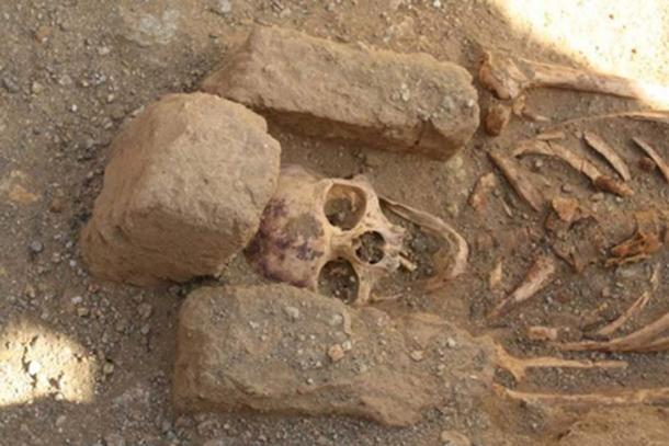 One of the burials found at the cemetery site near the monastery in Sudan.