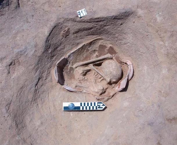 Burials dating to Naqada III period were buried in squatting position. (Ministry of Antiquities)