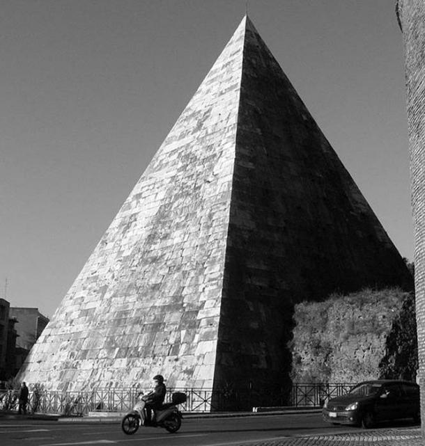 Pyramid of Gaius Cestius, Rome.