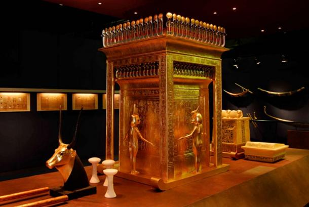 The canopic shrine from King Tutankhamun's tomb.