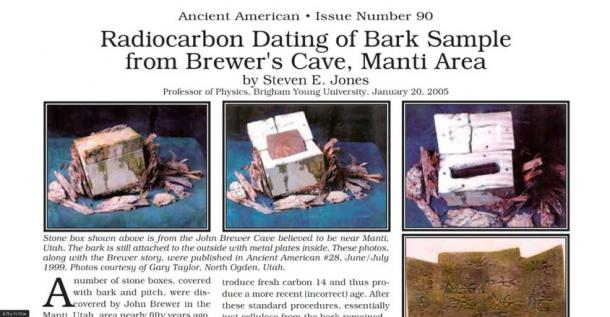 Carbon dating of the bark box found in the Brewer Cave. (The Brewer Cave / Facebook)