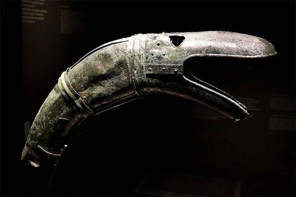 Head of one of the carnyx found at Tintignac. (Claude Valette / CC BY-SA 3.0)