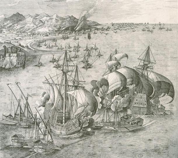 Carracks, similar to the Mary Rose