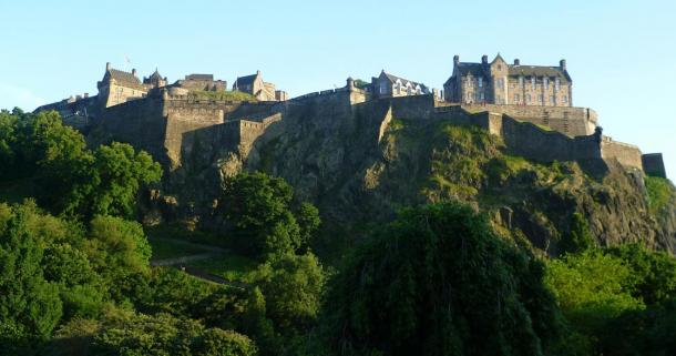 The imposing castle of Edinburg as seen in modern times, from the north.