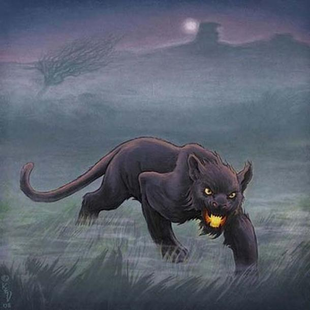 Artist's rendering of the cat-like beast.