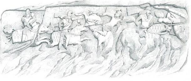 The charge of the cataphract put much fear in the enemy. Equestrian Relief at Firuzabad Iran showing Cataphracts dueling with lances