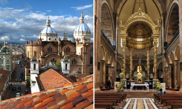 According to Luis, the gold found within the central cathedral in Cuenca, originally came from the Tayos caves.