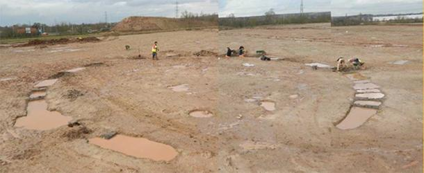 The cauldron enclosure where found to be deliberately buried. (Image: University of Leicester)
