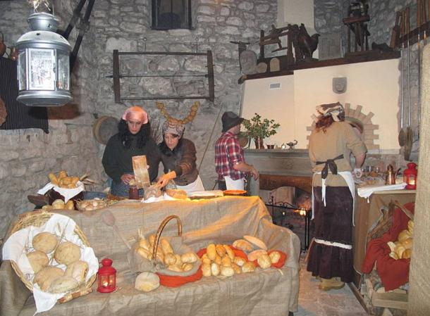 The celebration of presepe vivente
