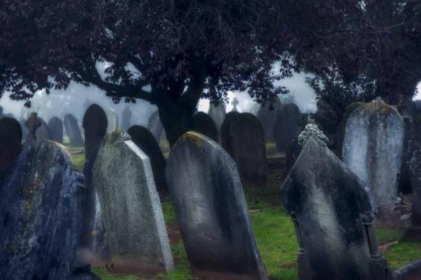 In the view of the Christian church, suicide was a sin and usually the sinner and his family were punished. And no self-murder victim was allowed to be buried with other good Christian souls in a cemetery. (PeskyMonkey / Adobe Stock)