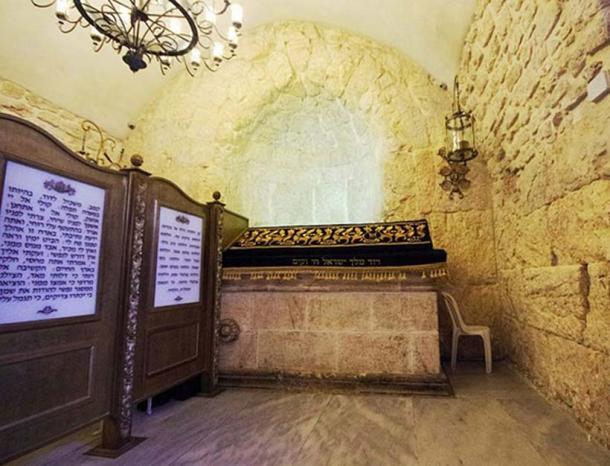 The cenotaph of David Tomb at Zion; Jerusalem.
