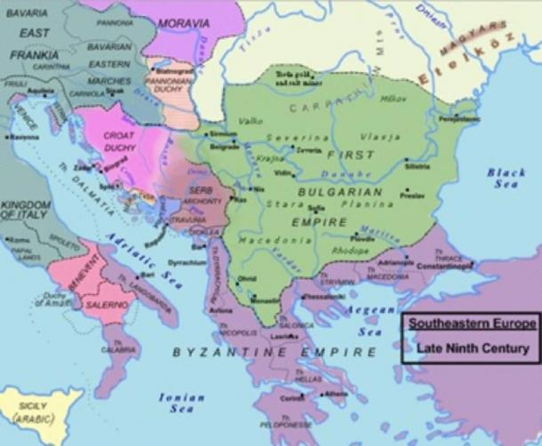 Central and Southeastern Europe around AD 850 (CC BY-SA 3.0)