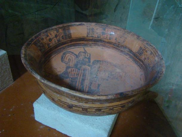 Ceramic bowl found in the cave