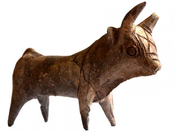A ceramic bull-god figurine was found in 2014 at the site.