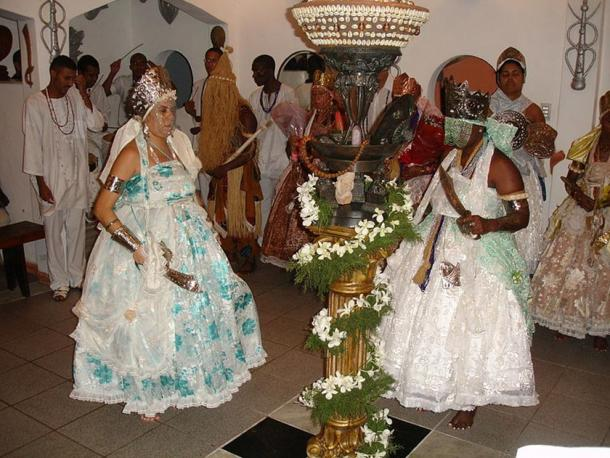 A Candomblé ceremony.