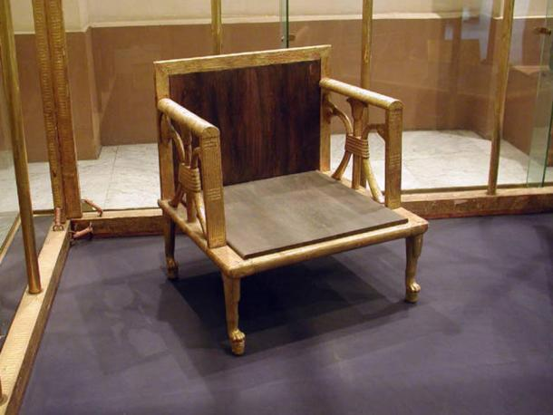 Actual chair of Queen Hetepheres in the Cairo Museum.