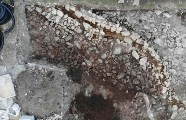 Overview of one of the channels after the Hirta excavation in the Scottish archipelago of St. Kilda