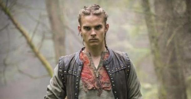 The character Hvitserk, probably a nickname for Halfdan Ragnarsson, in the series Vikings