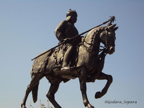 Statue of Maharana Pratap riding Chetak