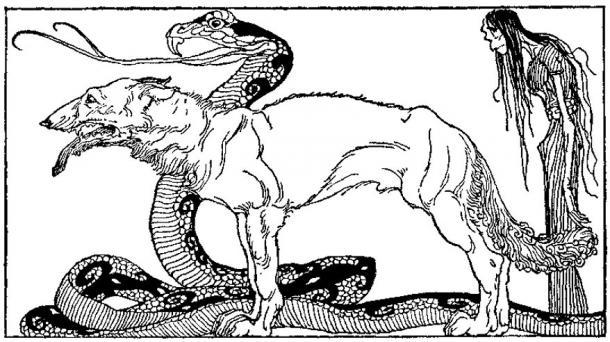 """""""The children of Loki"""" (1920) by Willy Pogany."""