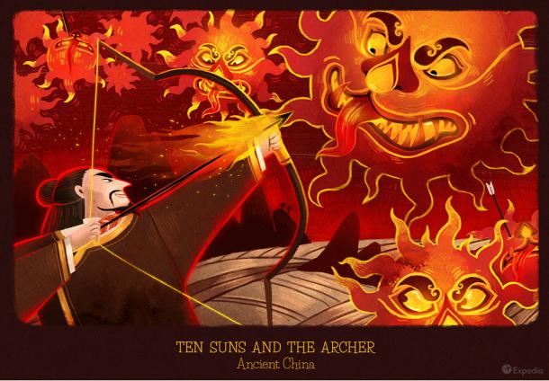China - The Sun and the archer