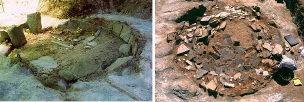 Two of the circular ditch dig sites at the Perdigões complex in Portugal (Perdigões Research Program)