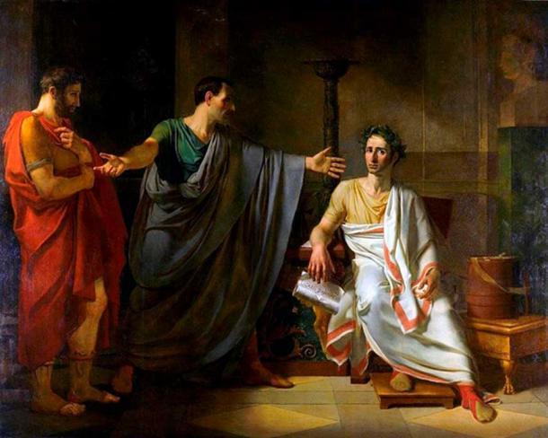 'La clémence de César' (1808) by Abel de Pujol. (The clemency of Caesar).