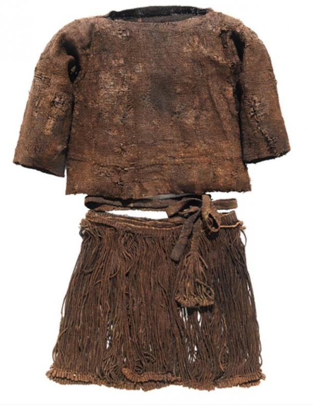 The clothing worn by the Bronze-Age teenager, Egtved Girl.