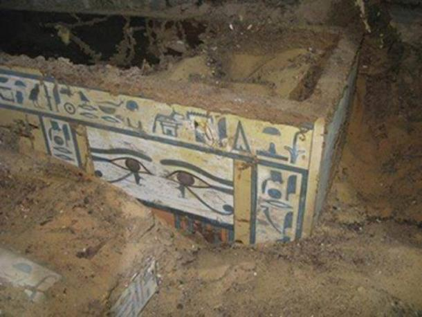 The newly-discovered coffin of the Egyptian noblewoman called Sattjeni.