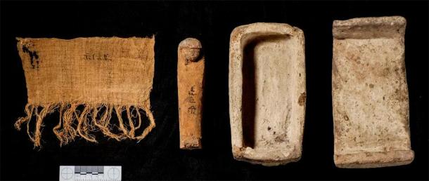 A tiny clay coffin was also found near an adobe chapel in the burial ground. (CSIC)