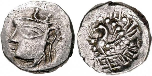 Little remains from the rule of Harsha, although we can see his profile on this coin from the 7th century. (Classical Numismatic Group, Inc. / CC BY-SA 3.0)