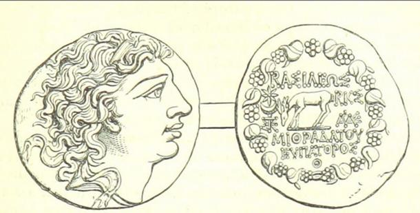 A coin depicting Mithridates VI.