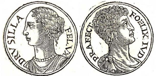 [Left] Drusilla (Public Domain) [Right] Antonius Felix. (Public Domain)